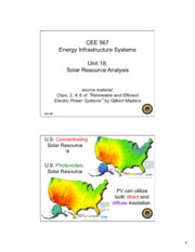Lecture18 Solar Resource Analysis for Energy Infrastructual system