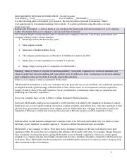 MANAGEMENT RESEARCH WORKSHEET