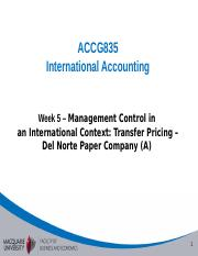 Week 5 - Management control in an international context - Del Norte A (3).ppt