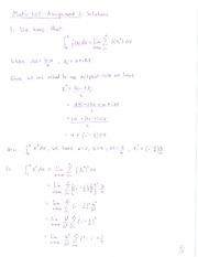 Math 105 - Assignment 3 Solutions