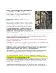 (Global Issues) France bars supermarkets from throwing away food.doc