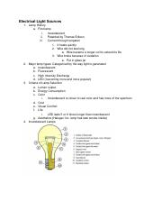 Lecture 4 - Light sources