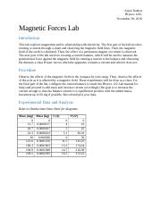 Magnetic Forces Lab Report.docx