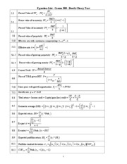 Equation_List_Comm_308_Final_Exam_F10