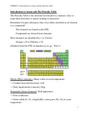 2 Introduction to the atom, The Periodic Table Notes.pdf