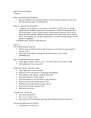 Speech Sound Disorders notes 1