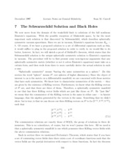 lecture notes on the schwarzschild solution and black holes