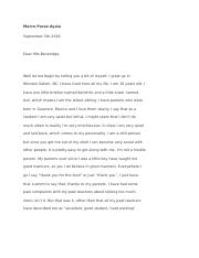 Letter To My Teacher