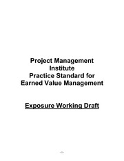 19100829-PMI-Earned-Value-Management-working-draft