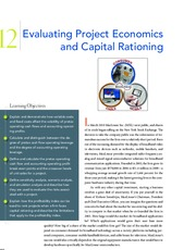 Chapter 12  Evaluating Project Economics and Capital Rationing