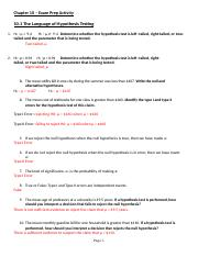 ANSWER KEY - Chapter 10 - Exam Prep Activity