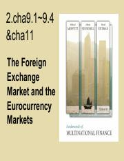 2(cha9.1~9.4,11).the foreign exchange market and Eurocurrency markets.pdf