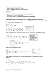 Multiplying and Dividing Fractions and Rational Expressions