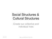WCT Soci1 Wk 1 -  Social Cultural Structures