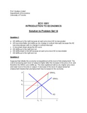 Solution to Problem Set 14 (ECO100)