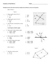 Geometry A Final Review2014
