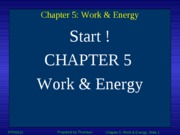 Chapter 5 - Work