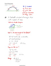 PHYS 11 Type 2 Projectiles Notes