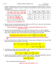 Worksheet 7_ Chapters 9_Inflation, 10 & 6_Solution(1)