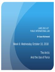 PIL Week 6 - Arctic and Use of Force - Slides - Wed 10 Oct 2018.pptx