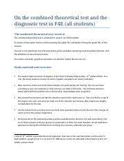 Description diagnostic and theoretical test TA TB
