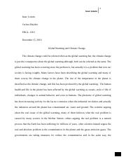 global waming and climate change  - research paper
