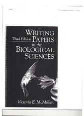 Writing Papers in the Biological Sciences-1