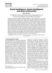 Niche Construction Article C