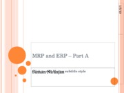 MRP and ERP - part A