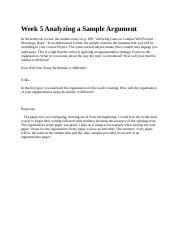 Week 5 Analyzing a Sample Argument 1.7.docx