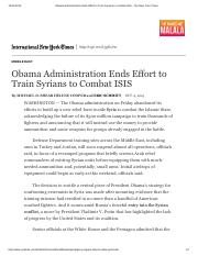 Obama Administration Ends Effort to Train Syrians to Combat ISIS - The New York Times.pdf