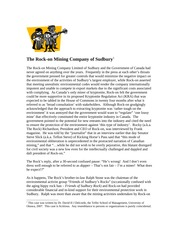 Rock-on Mining Company of Sudbury [Lecture 10] case study