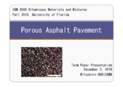 Porous Asphalt Pavement