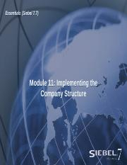 11ESS_Implementing the Company Structure