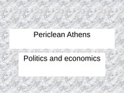 9. Periclean Athens - part 1