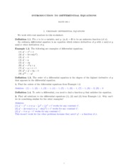 MATH 186 DIFFERENTIAL EQUATIONS