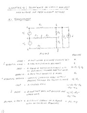 Study Guide on Techniques of Circuit Analysis