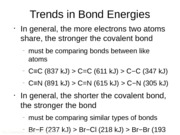 TROCh9Trends in Bond Energies
