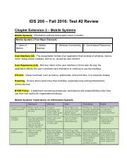 IDS 200-Test 2 Review - Google Docs