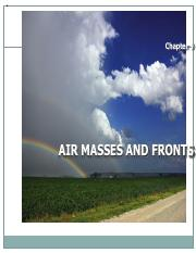 Geog115Chap09 - Air Masses and Weather Fronts