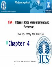 CHApter 4 Interest Rate Measurement and Behavior.pptx