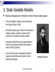 3. State Variable Models