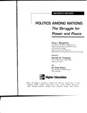 Morgenthau_Politics Among Nations