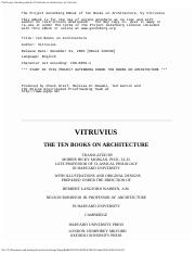 Ten Books on Architecture, by Vitruvius..pdf