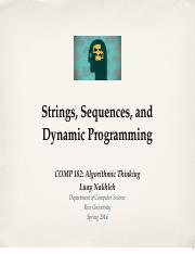 StringsSequencesDynamicProgramming