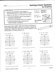 Solve Systems Of Equations Worksheet Packet Pdf Name Solving