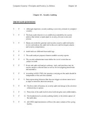 Chapter 18 Test - Computer Security2