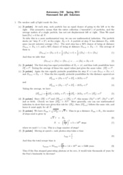 Astro 210 Homework 8 Solutions