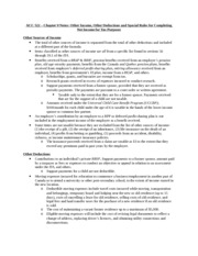 ACC 522 - Chapter 9 Notes