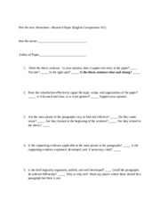 Peer Review Worksheet--101 Argumentative Research.doc